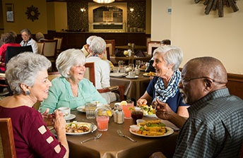 Residents at 10 Wilmington Place  share a nutritious meal.