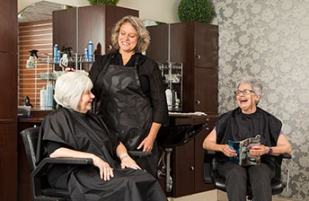 Residents visit their hair stylist  10 Wilmington Place
