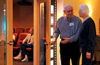 residents walking into Cinema 10 at 10 Wilmington Place