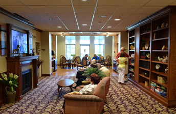 Kick Back, Relax, and enjoy some t.v time in the library at 10 Wilmington Place