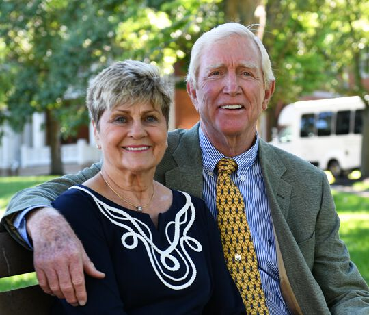 Barry and Marilyn Humphries. Owners of 10 Wilmington Place